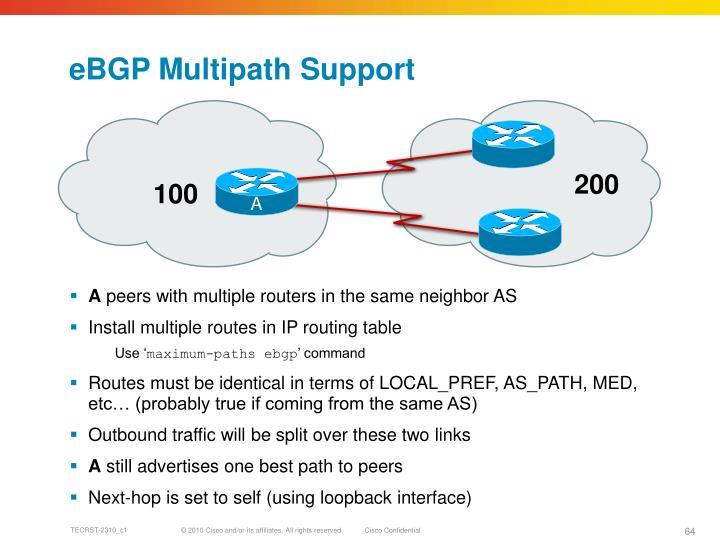 eBGP Multipath Support
