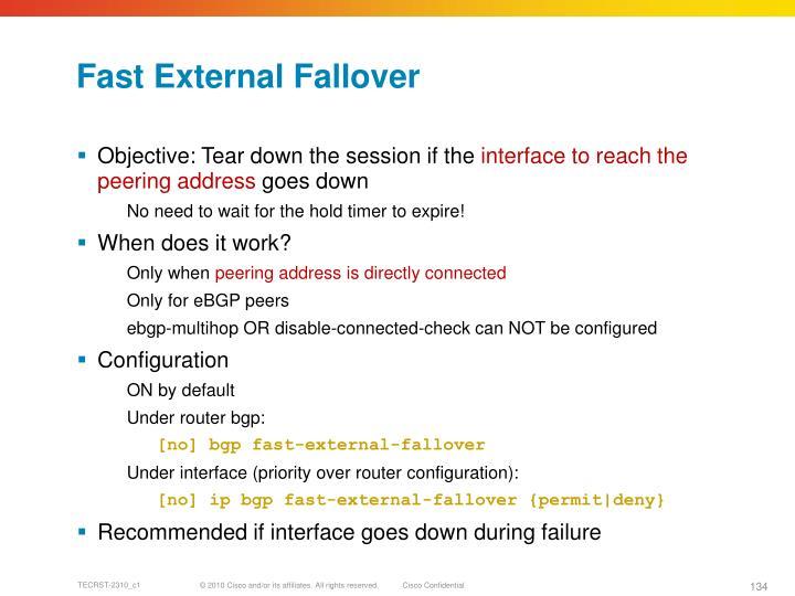 Fast External Fallover
