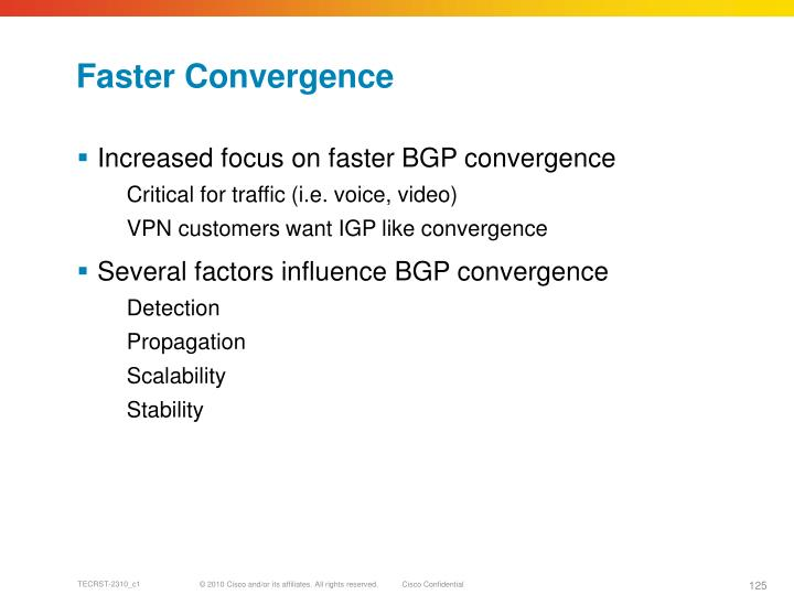 Faster Convergence