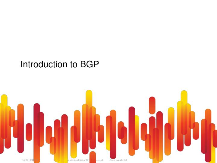 Introduction to BGP