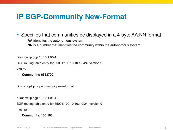 IP BGP-Community New-Format