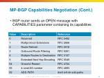 mp bgp capabilities negotiation cont
