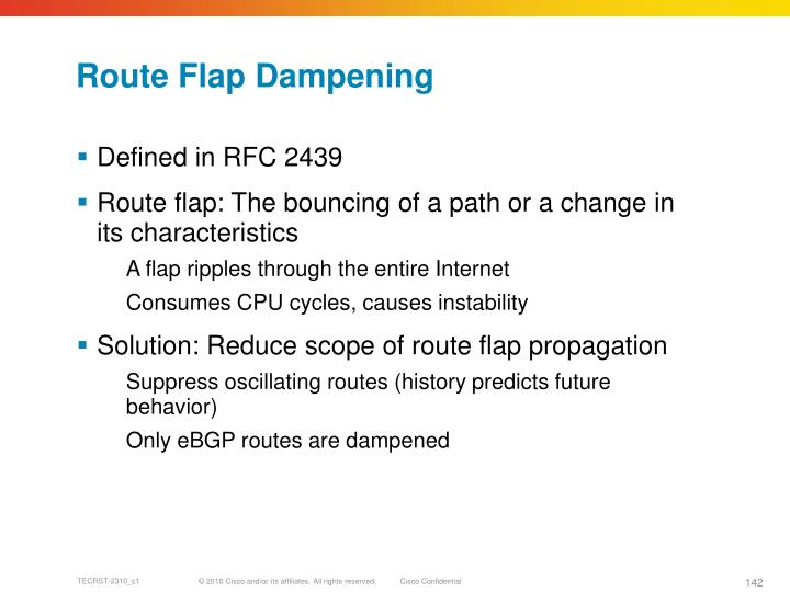 Route Flap Dampening