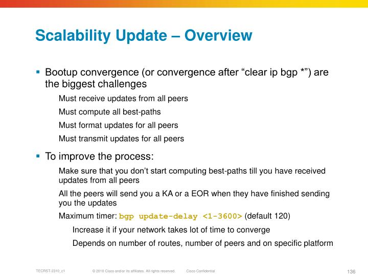 Scalability Update – Overview