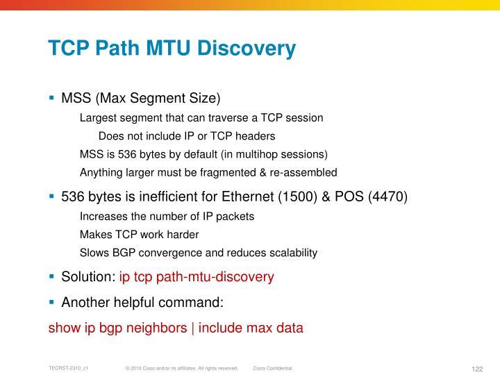 TCP Path MTU Discovery