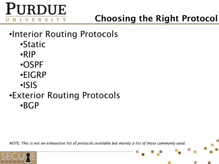 Interior Routing Protocols