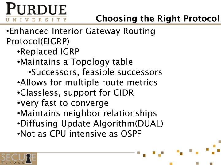 Enhanced Interior Gateway Routing Protocol(EIGRP)
