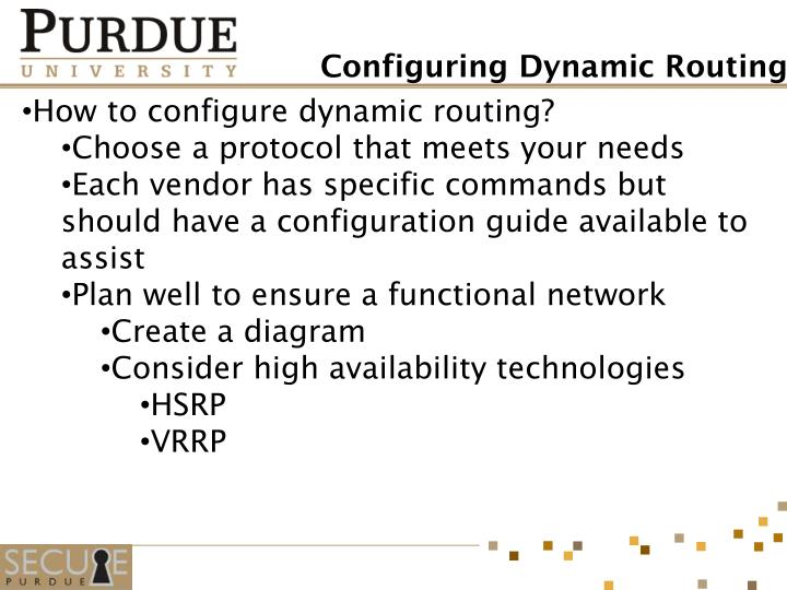 How to configure dynamic routing?