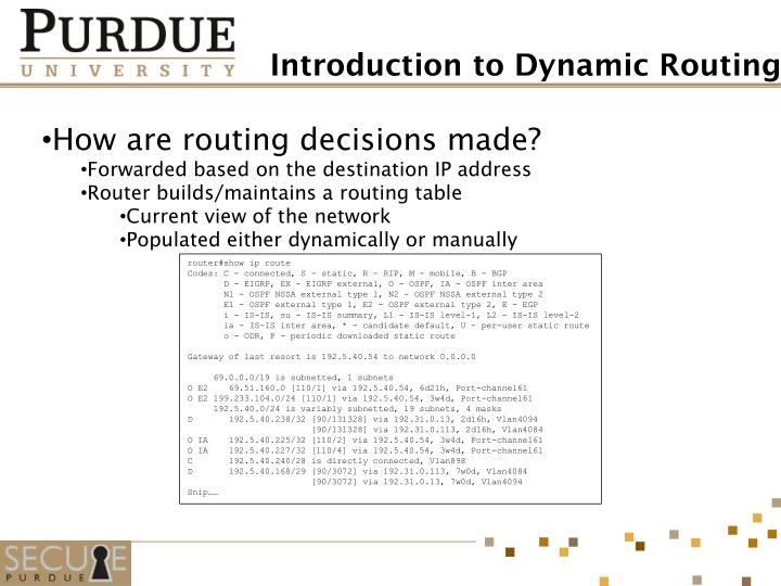 How are routing decisions made?
