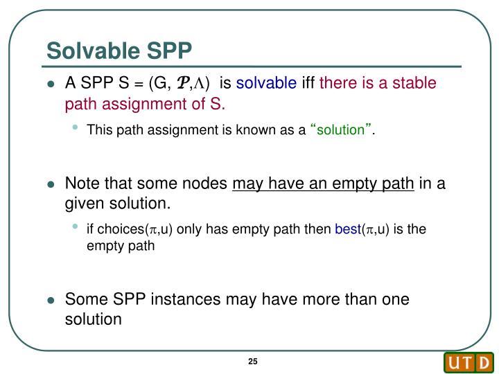 Solvable SPP