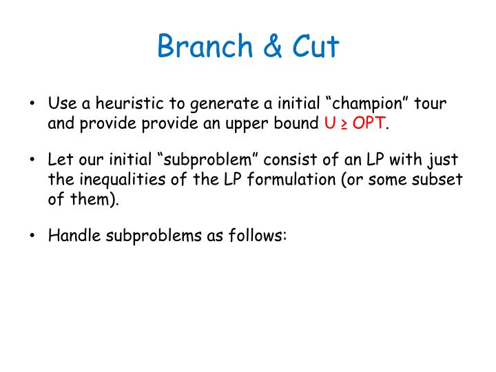 Branch & Cut
