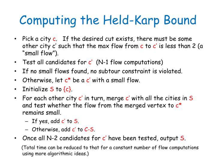 Computing the Held-Karp Bound