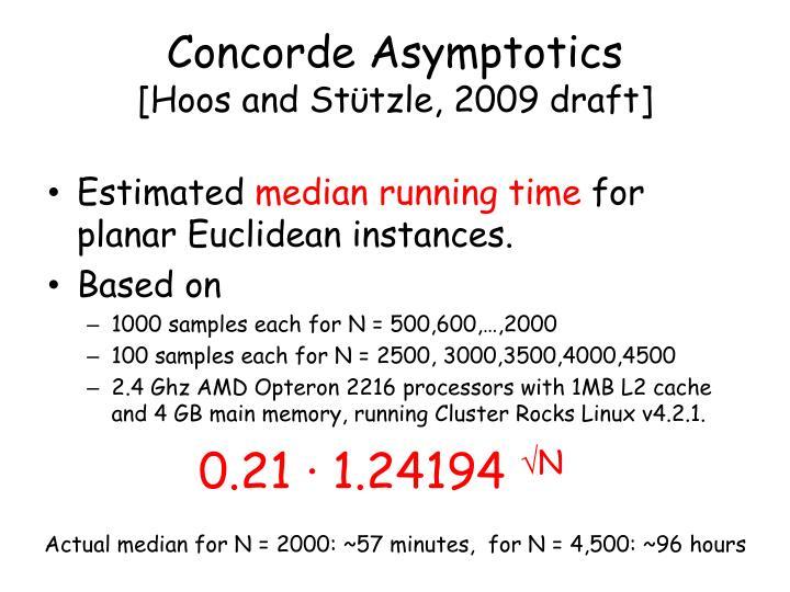 Concorde Asymptotics