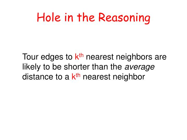 Hole in the Reasoning