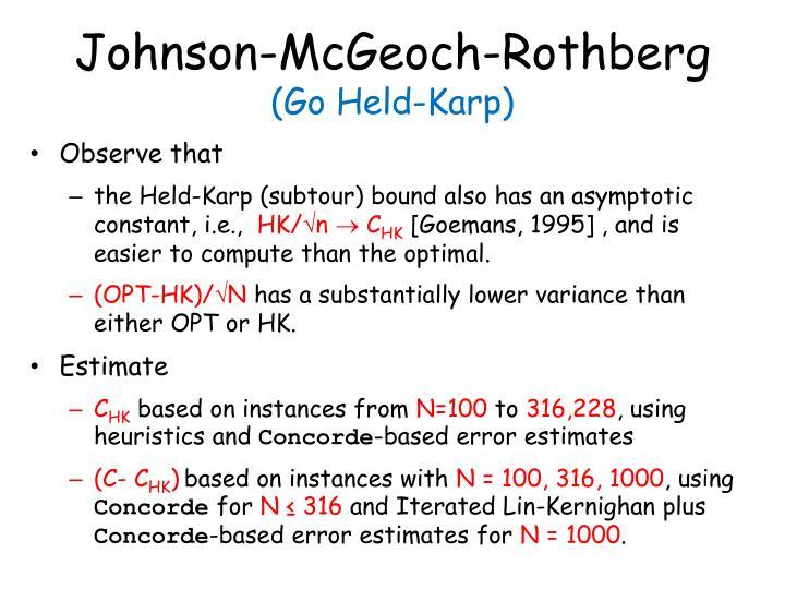 Johnson-McGeoch-Rothberg