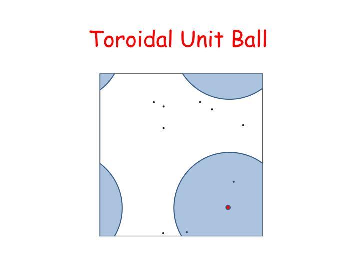 Toroidal Unit Ball