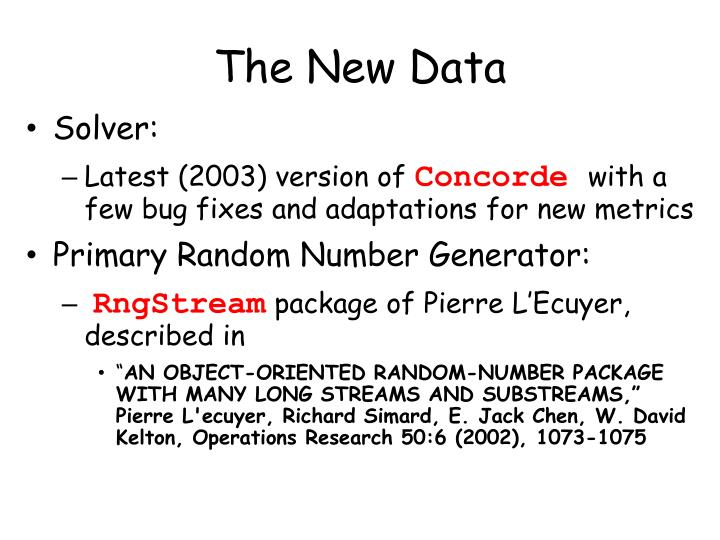 The New Data