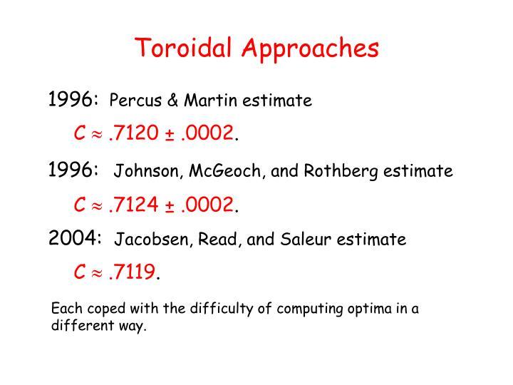 Toroidal Approaches