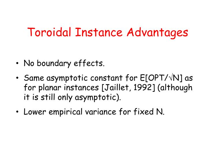 Toroidal Instance Advantages