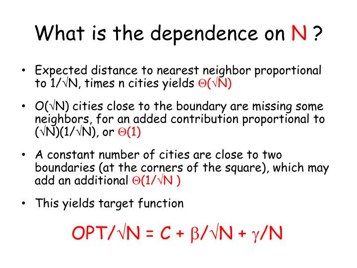What is the dependence on