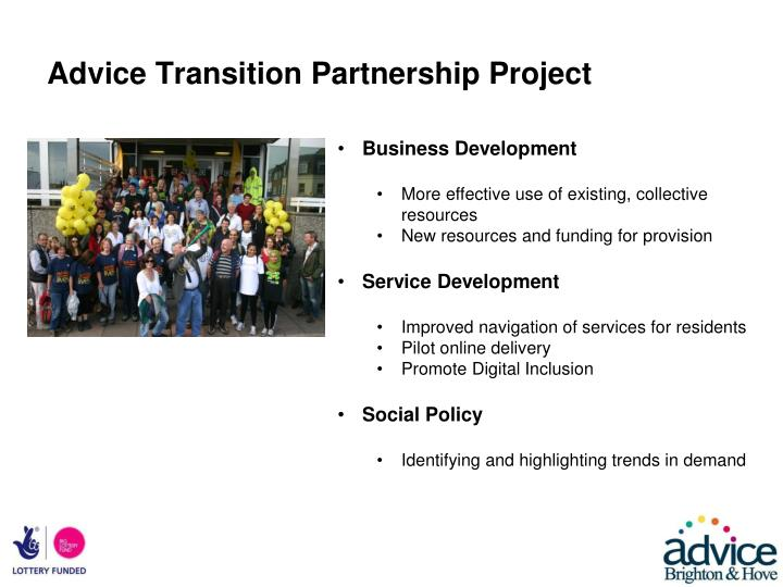 Advice Transition Partnership Project