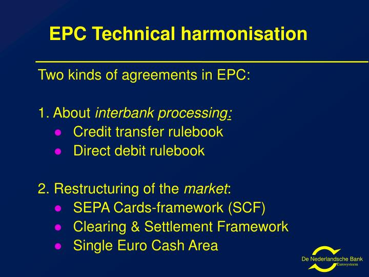EPC Technical harmonisation