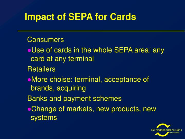 Impact of SEPA for Cards