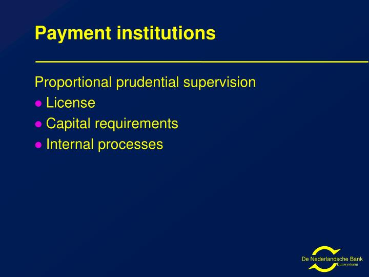 Payment institutions