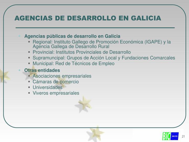 AGENCIAS DE DESARROLLO EN GALICIA