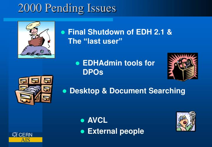 2000 Pending Issues