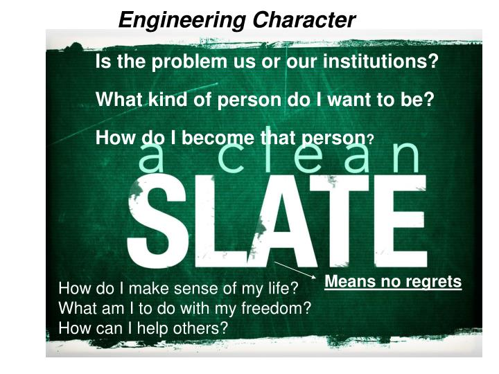 Engineering Character