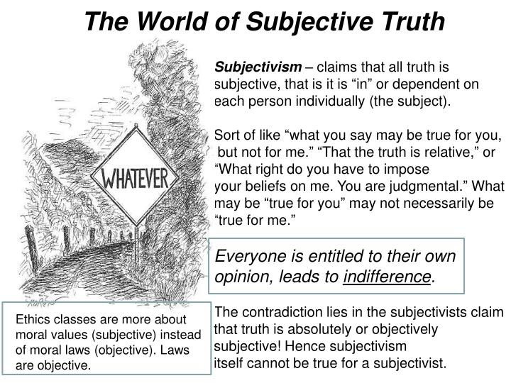 The World of Subjective Truth