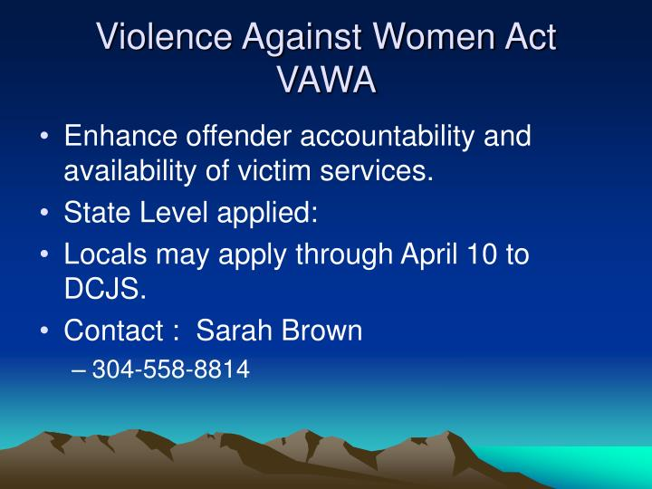 Violence Against Women Act