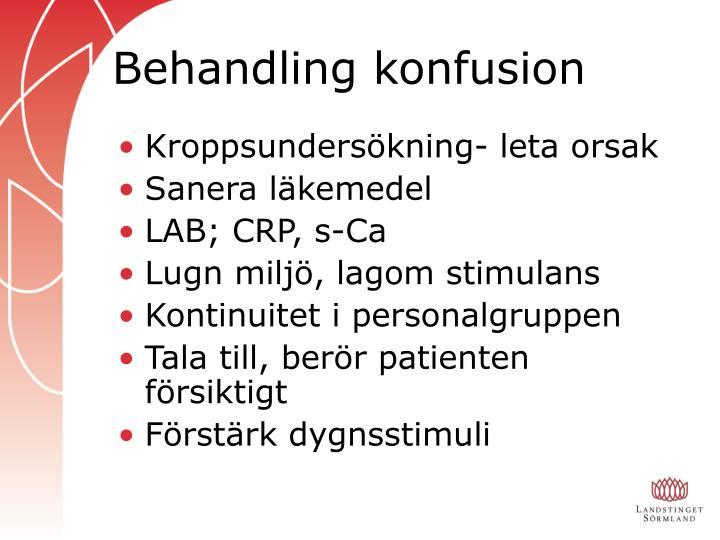 Behandling konfusion