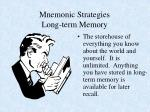 mnemonic strategies long term memory