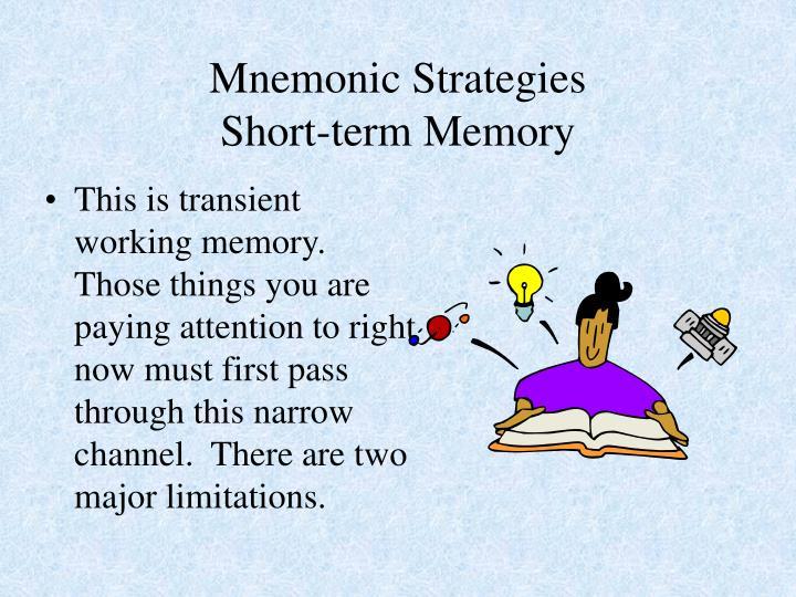 Mnemonic Strategies