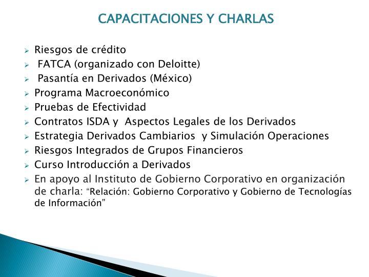 CAPACITACIONES Y CHARLAS