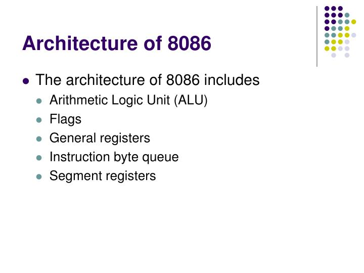 Architecture of 8086