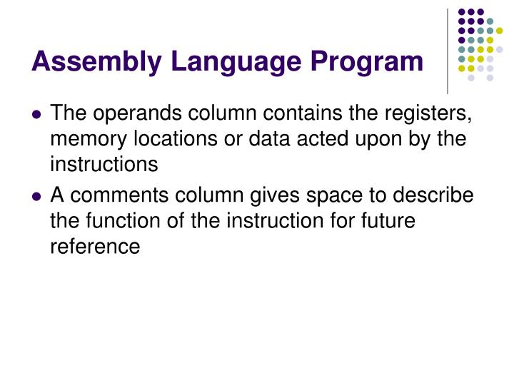 Assembly Language Program