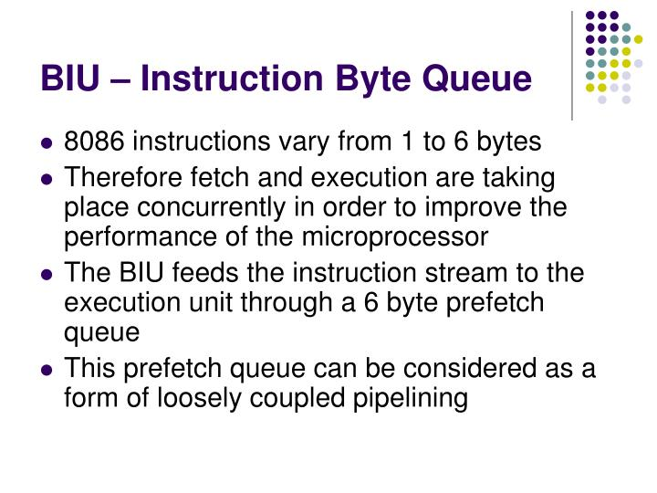 BIU – Instruction Byte Queue