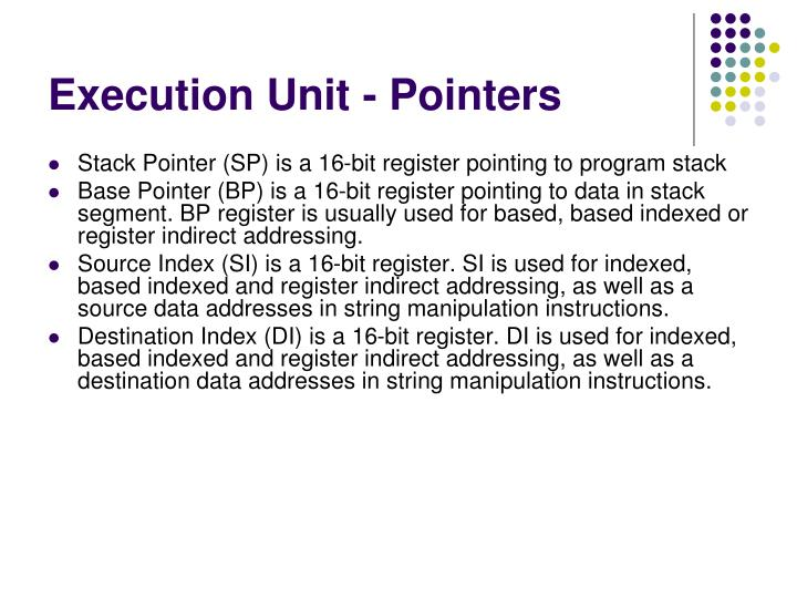 Execution Unit - Pointers