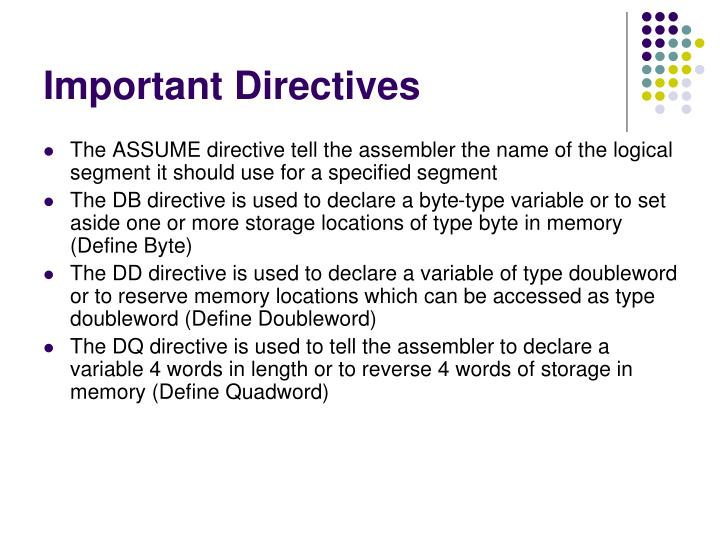 Important Directives