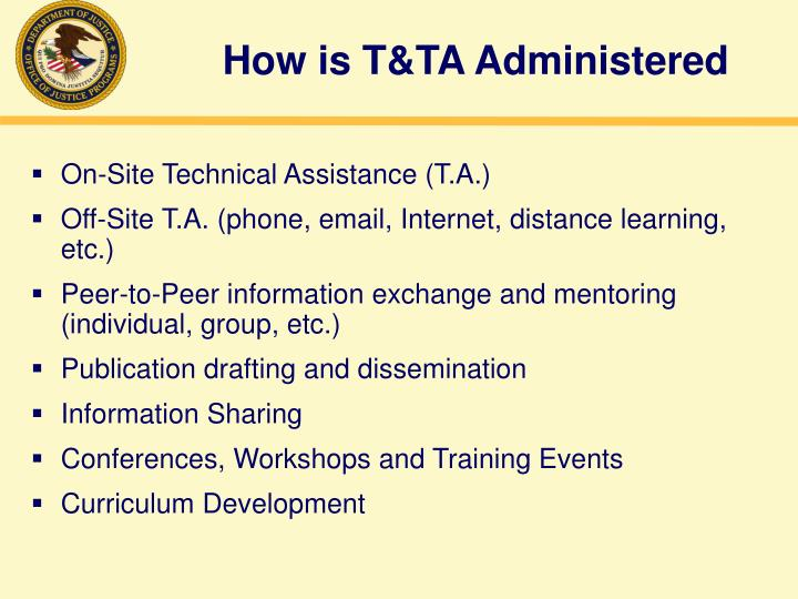 How is t ta administered