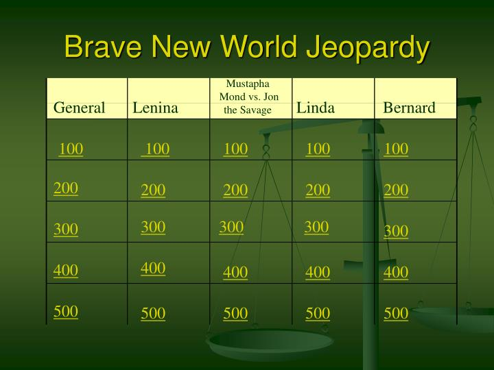 Brave new world jeopardy