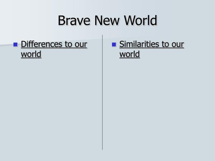 Differences to our world