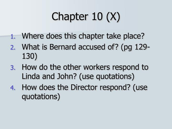 Chapter 10 (X)