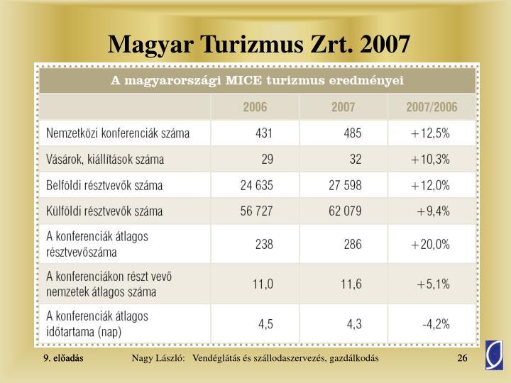 Magyar Turizmus Zrt. 2007