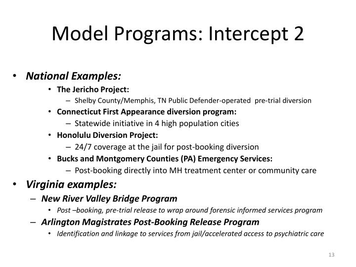 Model Programs: Intercept 2