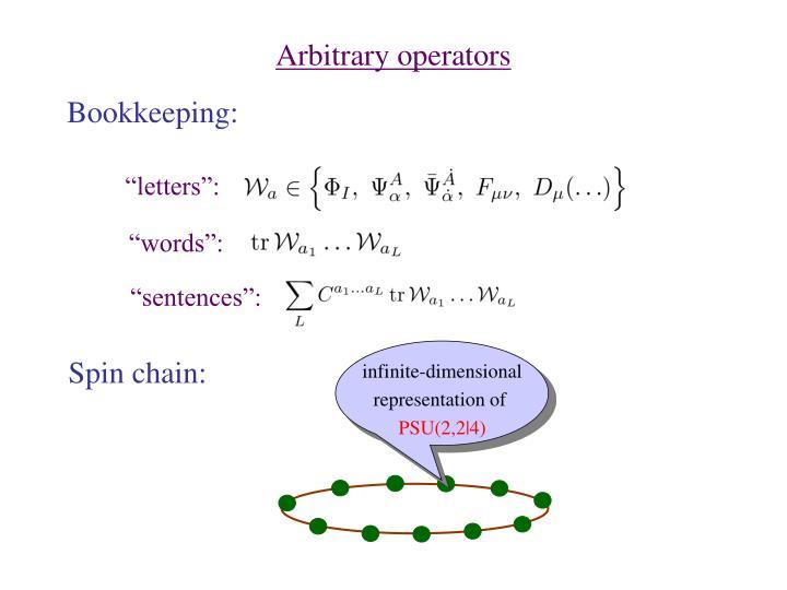 Arbitrary operators