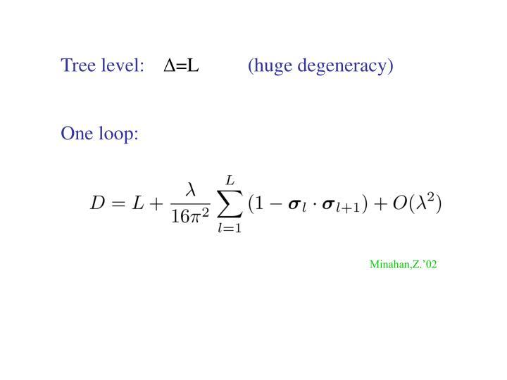 Tree level: